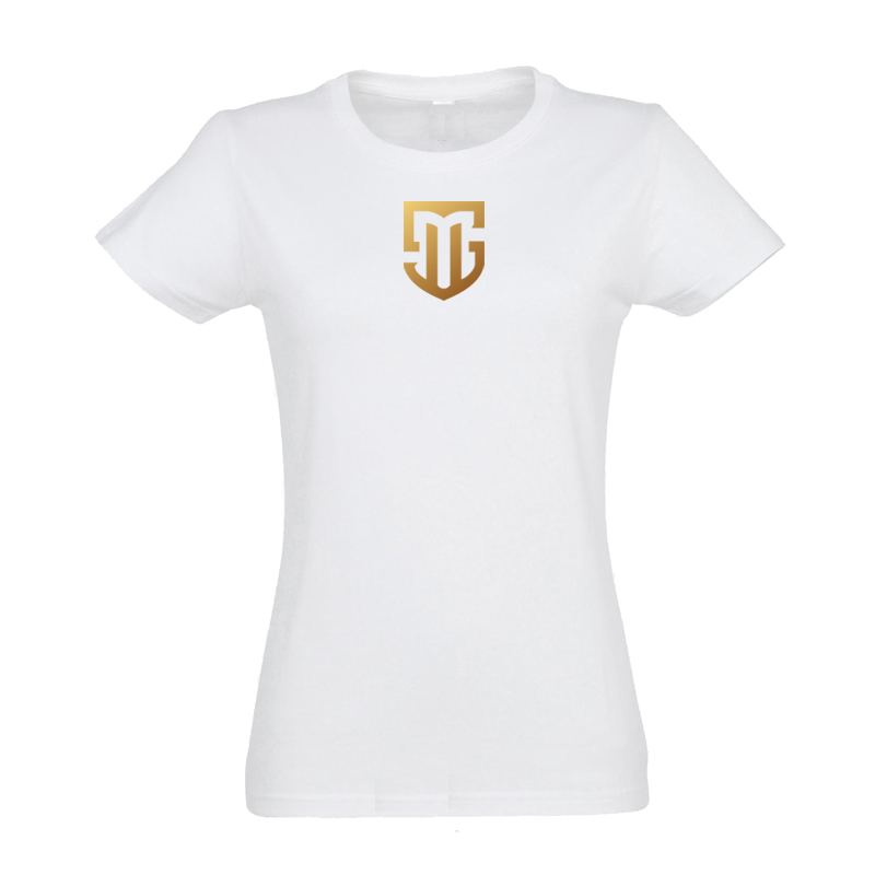 T-Shirt Damen weiß Logo MS gold